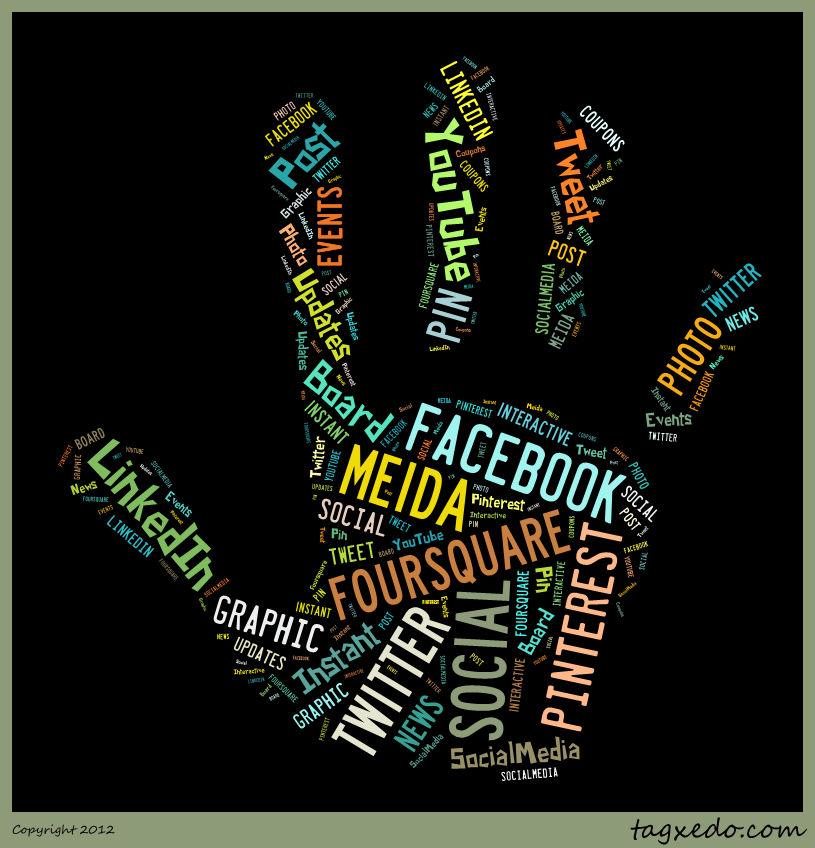 Social Media Center Social Media Hand
