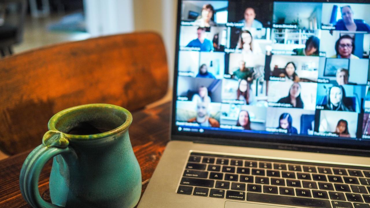 Virtual Computer Meeting Scene